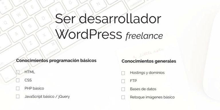 Checklist: ser desarrollador WordPress